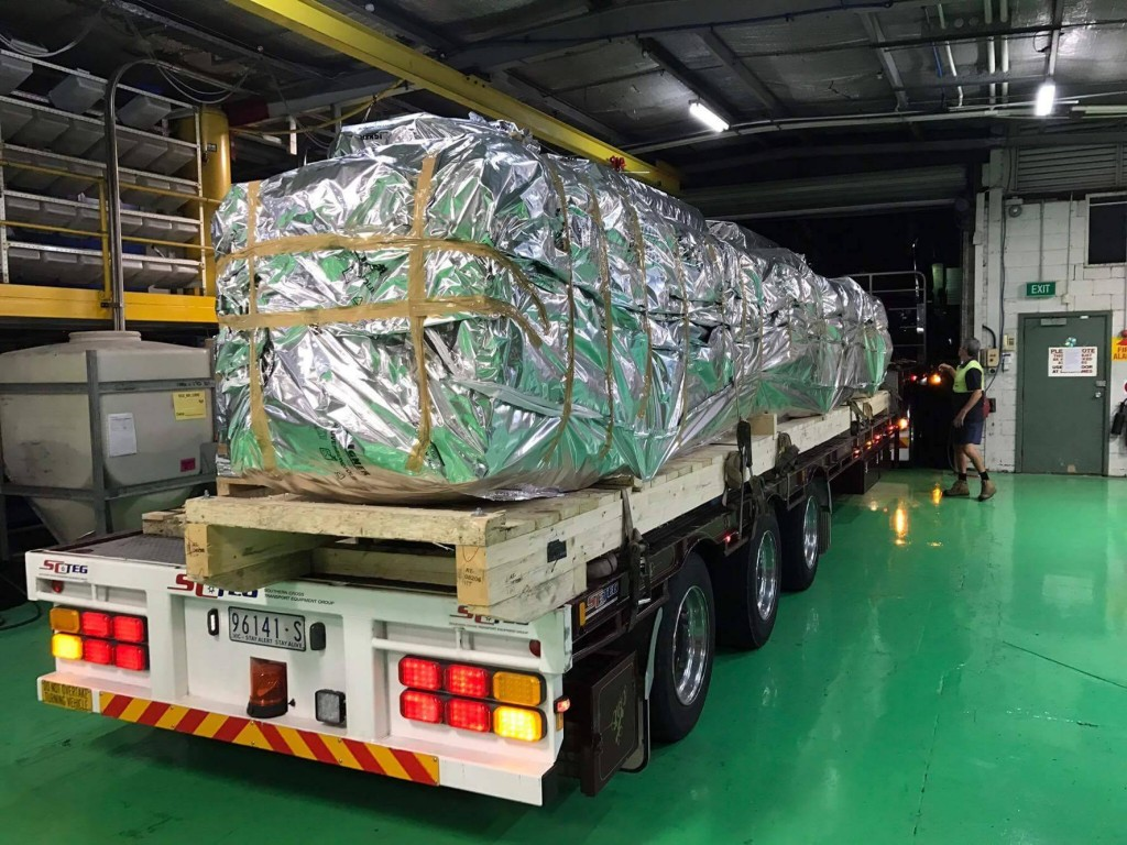 Rhino Solar extruders being delivered