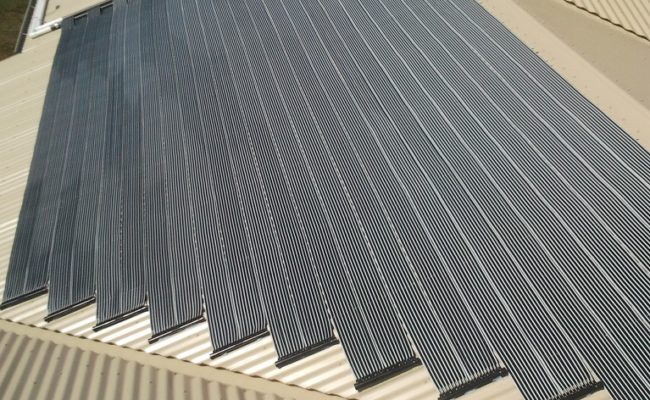 Strip Solar Heating Installation